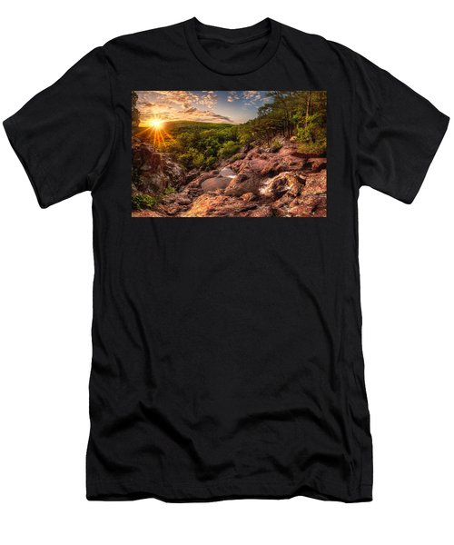 Mina Sauk Falls Men's T-Shirt (Athletic Fit)