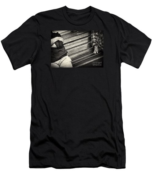 Men's T-Shirt (Slim Fit) featuring the photograph Mind The Gap by Michel Verhoef