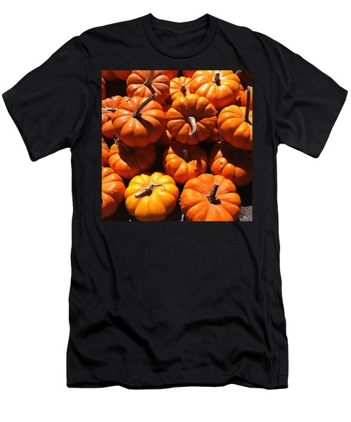 Men's T-Shirt (Slim Fit) featuring the photograph Mini Fall Pumpkins by Denyse Duhaime