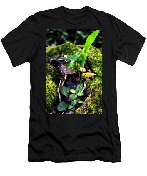 Men's T-Shirt (Slim Fit) featuring the photograph Miniature Garden by Jim Thompson