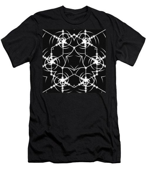 Men's T-Shirt (Athletic Fit) featuring the digital art Minimal Life Vortex by Derek Gedney