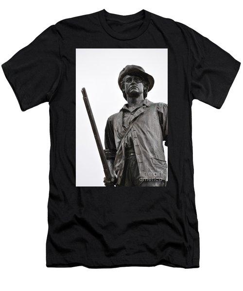 Minute Man Statue Concord Massachusetts Men's T-Shirt (Athletic Fit)