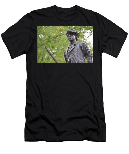 Minute Man Statue In Spring Men's T-Shirt (Athletic Fit)