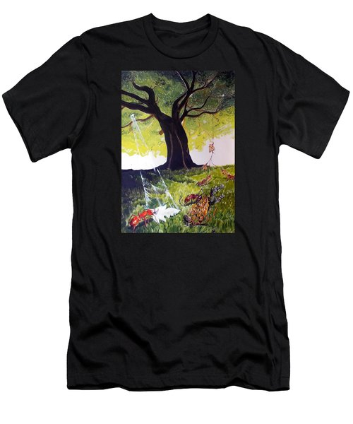 Mirage Of Lives  Men's T-Shirt (Slim Fit) by Lazaro Hurtado