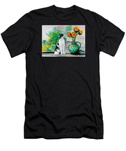 Da129 Miss Kitty Daniel Adams Men's T-Shirt (Athletic Fit)