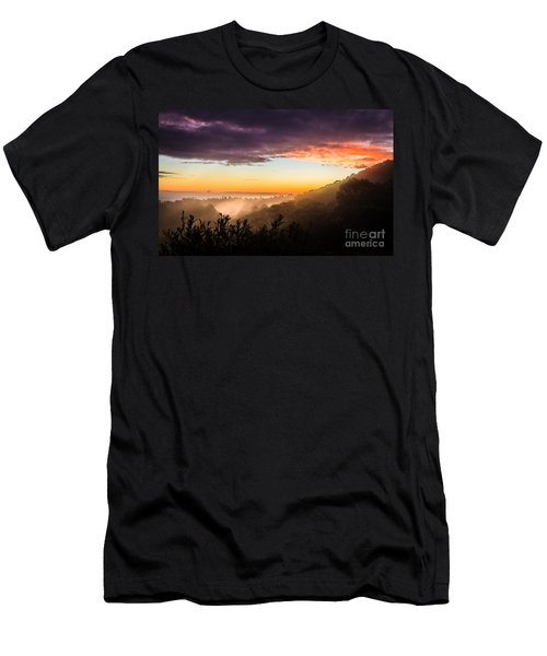 Mist Rising At Dusk Men's T-Shirt (Athletic Fit)
