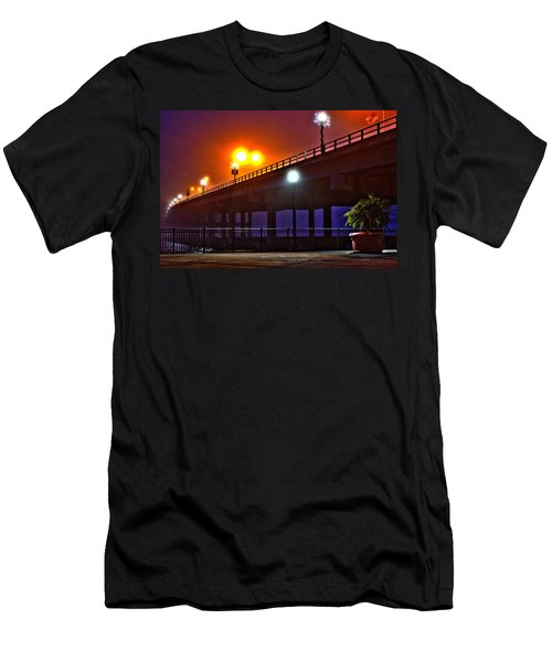 Men's T-Shirt (Athletic Fit) featuring the photograph Misty Bridge by Tyson Kinnison