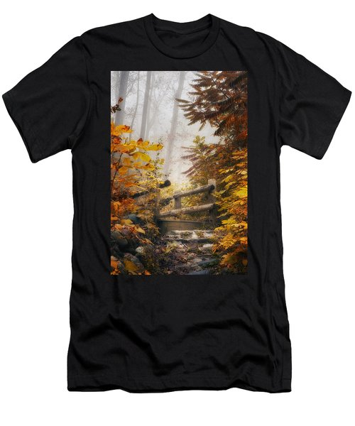 Misty Footbridge Men's T-Shirt (Athletic Fit)