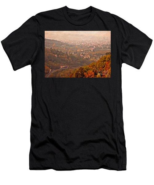 Misty Morn O'er Florence Men's T-Shirt (Athletic Fit)
