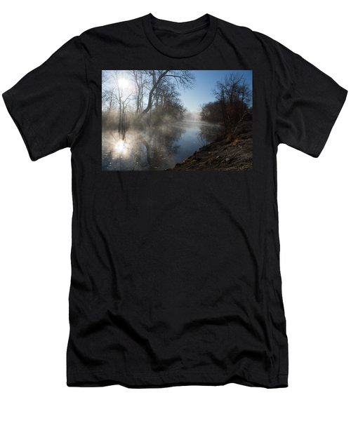 Misty Morning Along James River Men's T-Shirt (Athletic Fit)