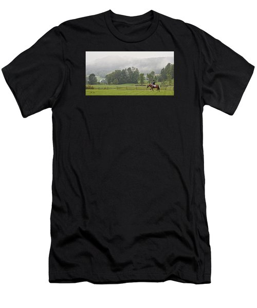 Misty Morning Ride Men's T-Shirt (Athletic Fit)