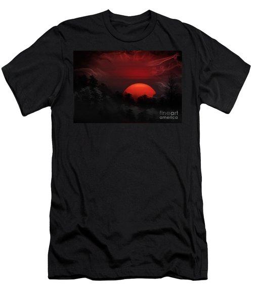 Misty Mountain Sunrise Men's T-Shirt (Athletic Fit)