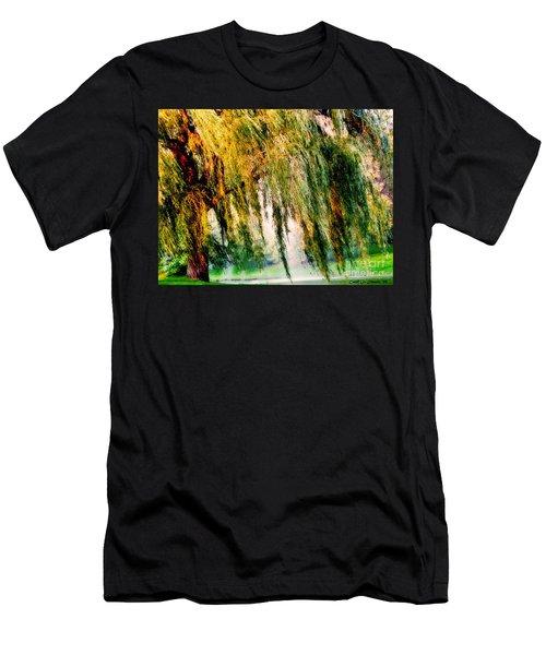 Misty Weeping Willow Tree Dreams Men's T-Shirt (Slim Fit) by Carol F Austin