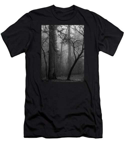 Misty Woods Men's T-Shirt (Slim Fit) by Rebecca Davis