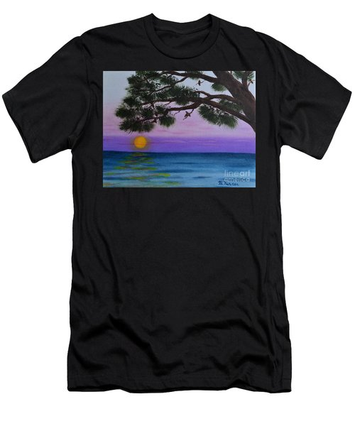 Mobile Bay Sunset Men's T-Shirt (Athletic Fit)