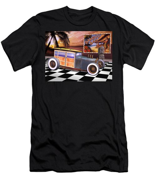 Model T Surf Woody Men's T-Shirt (Slim Fit) by Stuart Swartz
