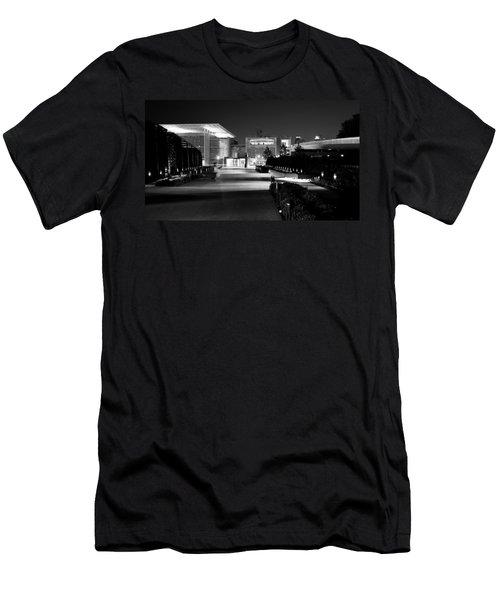 Modern Architecture Night Black White Men's T-Shirt (Athletic Fit)