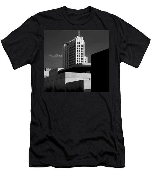 Modern Art Deco Architecture Black White Men's T-Shirt (Athletic Fit)