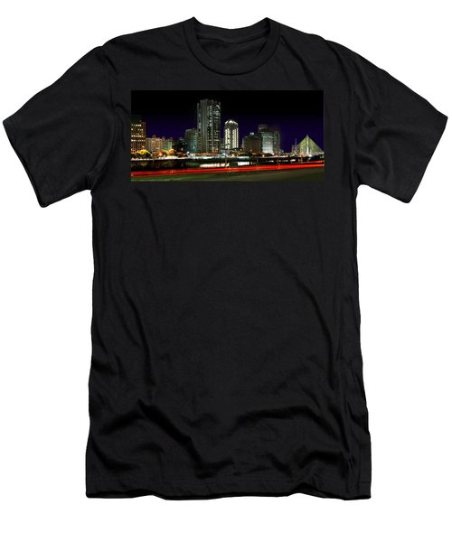 Modern Sao Paulo Skyline Near Brooklin District And Stayed Bridge Men's T-Shirt (Athletic Fit)