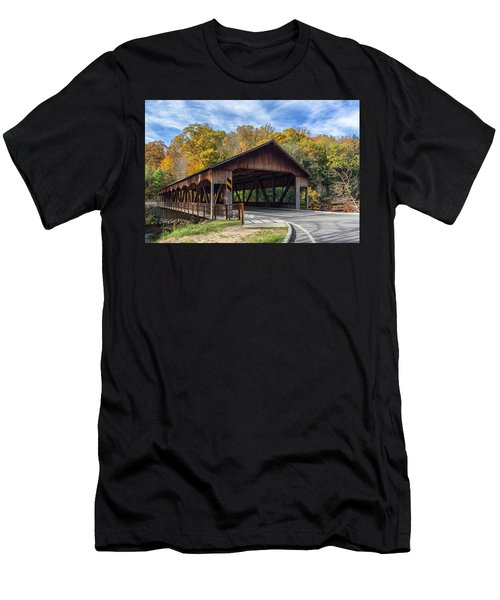 Mohican Covered Bridge Men's T-Shirt (Athletic Fit)