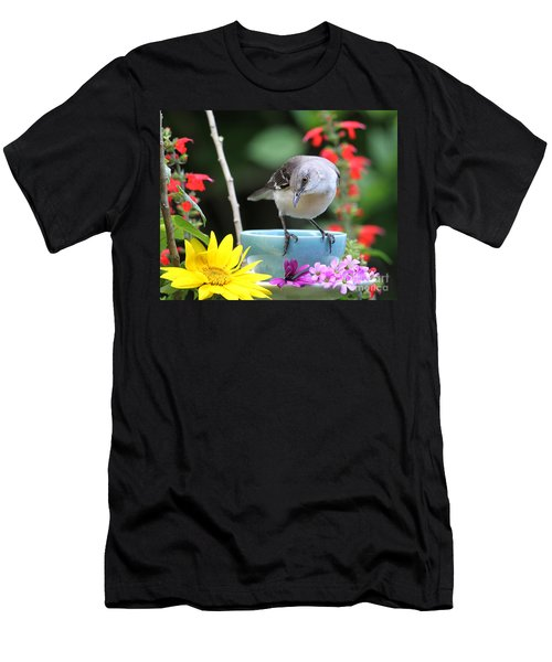 Mockingbird And Teacup Photo Men's T-Shirt (Athletic Fit)