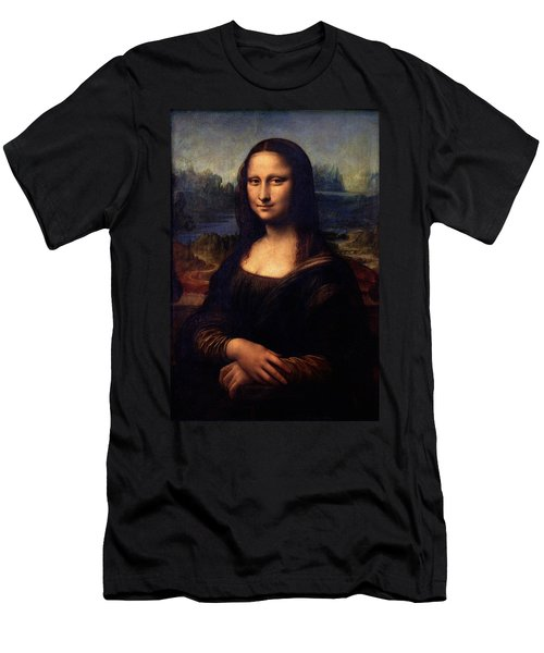Men's T-Shirt (Slim Fit) featuring the painting Mona Lisa II by Karon Melillo DeVega