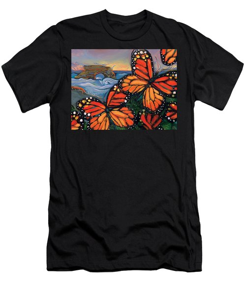 Monarch Butterflies At Natural Bridges Men's T-Shirt (Athletic Fit)