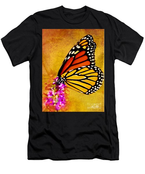 Monarch Butterfly Color Splash Sunset Men's T-Shirt (Athletic Fit)