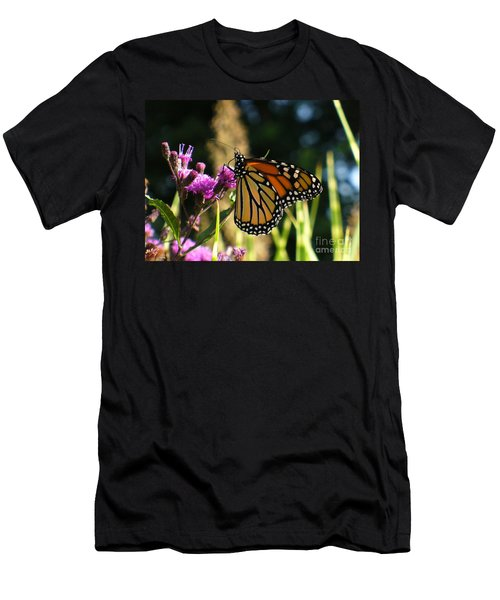 Men's T-Shirt (Slim Fit) featuring the photograph Monarch Butterfly by Lingfai Leung