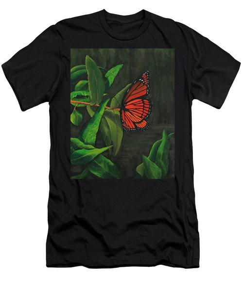 Viceroy Butterfly Oil Painting Men's T-Shirt (Athletic Fit)