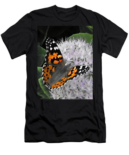 Men's T-Shirt (Slim Fit) featuring the photograph Monarch by Photographic Arts And Design Studio