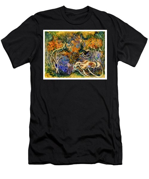 Monet Under Water Men's T-Shirt (Athletic Fit)