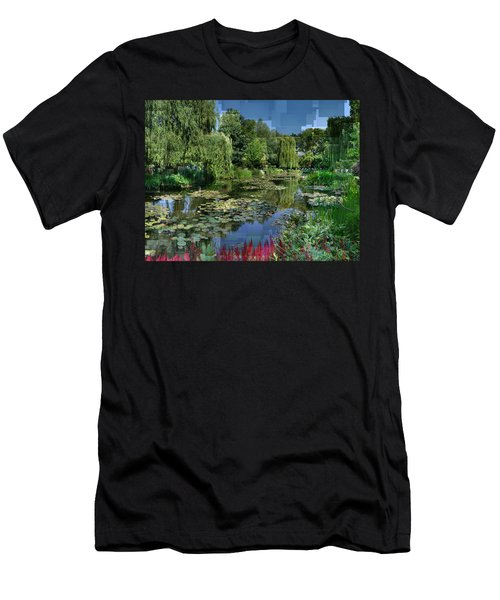 Monet's Lily Pond At Giverny Men's T-Shirt (Athletic Fit)