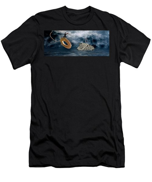 Money House Under Water Men's T-Shirt (Athletic Fit)