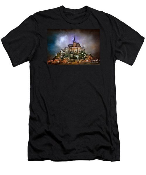 Mont Saint Michel   Men's T-Shirt (Slim Fit) by Andrzej Szczerski