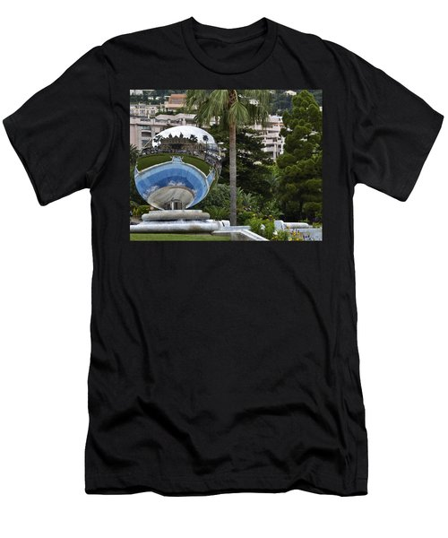 Men's T-Shirt (Slim Fit) featuring the photograph Monte Carlo Casino In Reflection by Allen Sheffield
