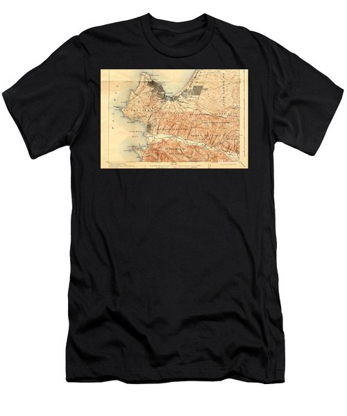 Monterey And Carmel Valley  Monterey Peninsula California  1912 Men's T-Shirt (Athletic Fit)