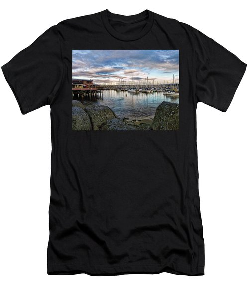 Men's T-Shirt (Slim Fit) featuring the photograph Monterey Marina California by Kathy Churchman