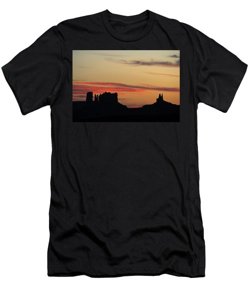 Monument Valley Sunset 1 Men's T-Shirt (Slim Fit) by Jeff Brunton