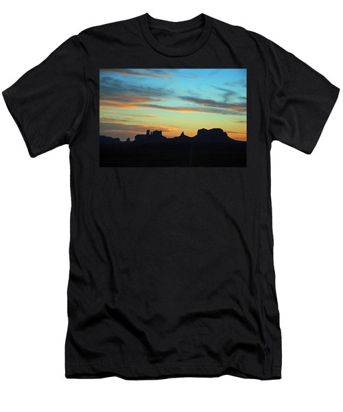 Monument Valley Sunset 4  Men's T-Shirt (Slim Fit) by Jeff Brunton
