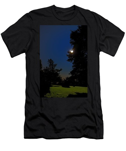 Men's T-Shirt (Slim Fit) featuring the photograph Moon And Pegasus by Greg Reed