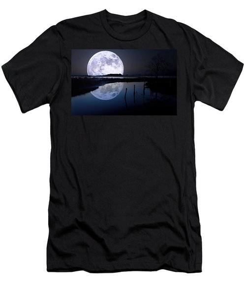 Moon At Night Men's T-Shirt (Athletic Fit)