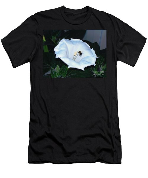 Men's T-Shirt (Slim Fit) featuring the photograph Moon Flower by Thomas Woolworth