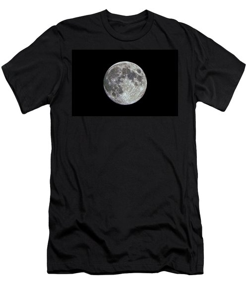 Men's T-Shirt (Slim Fit) featuring the photograph Moon Hdr by Greg Reed