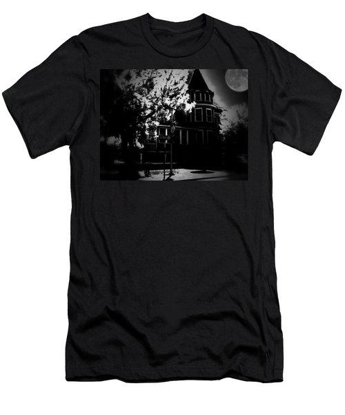 Men's T-Shirt (Slim Fit) featuring the photograph Moon N U by Robert McCubbin