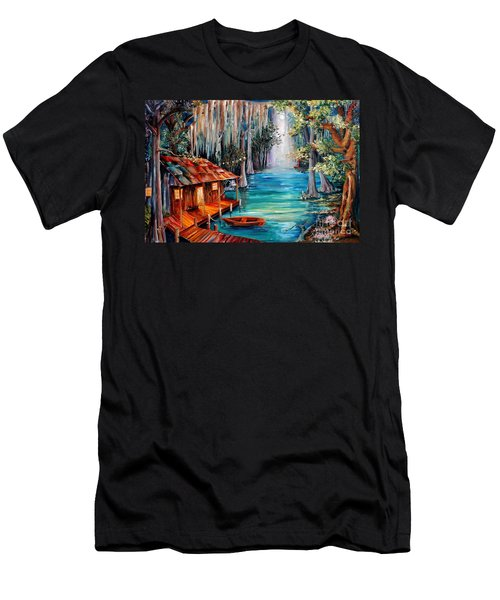 Moon On The Bayou Men's T-Shirt (Athletic Fit)
