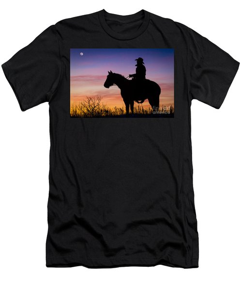 Moon On The Range Men's T-Shirt (Athletic Fit)