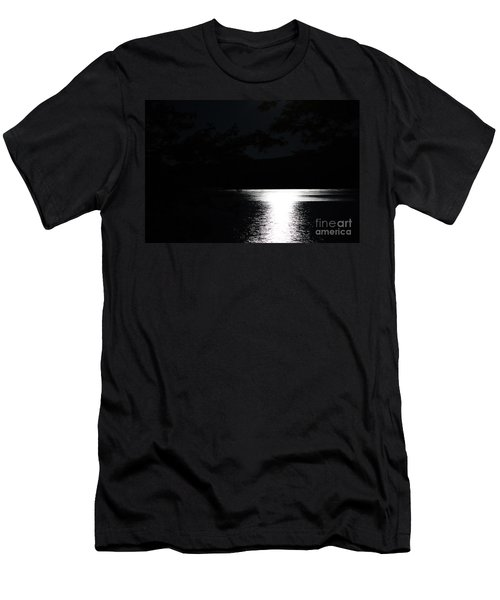 Moon On Waterton Lake Men's T-Shirt (Athletic Fit)