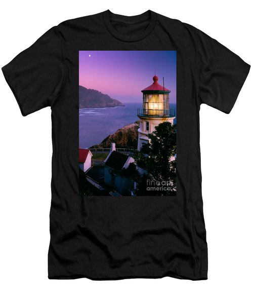 Moon Over Heceta Head Men's T-Shirt (Athletic Fit)