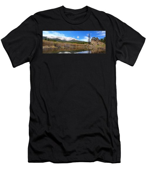 Moon Over St. Malo Men's T-Shirt (Athletic Fit)
